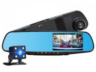 DVR CAR BLACK BOX ( FRONT CAM + BACK CAM+ MIRROR )