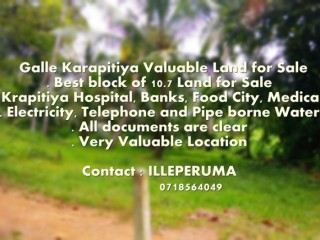 Galle - Karapitiya Valuable Land for Sale