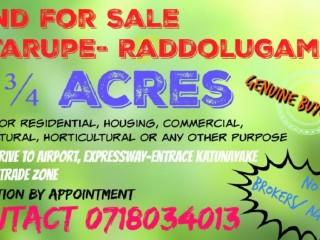 Land for Sale in Kotarupe- Raddolugama