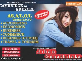 Cambridge and Edxcel O/L,AS and A/L Classes