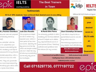 IELTS, Achieve your desired score in with an EPIC Guarantee